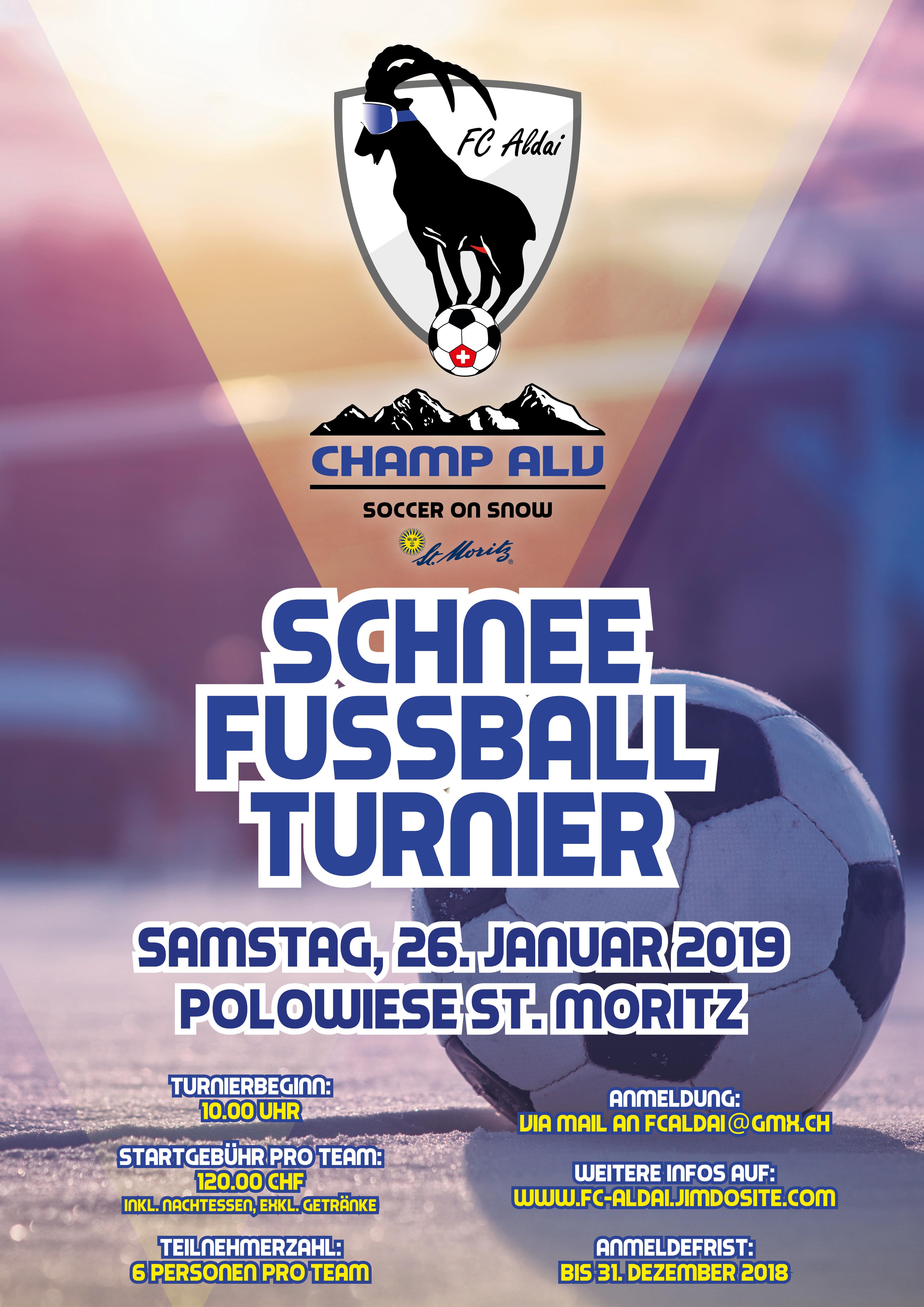 Schneefussball-Turnier in St. Moritz